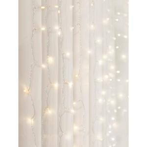 96-Light 4 ft. Warm White LED Curtain Cascading Lighting