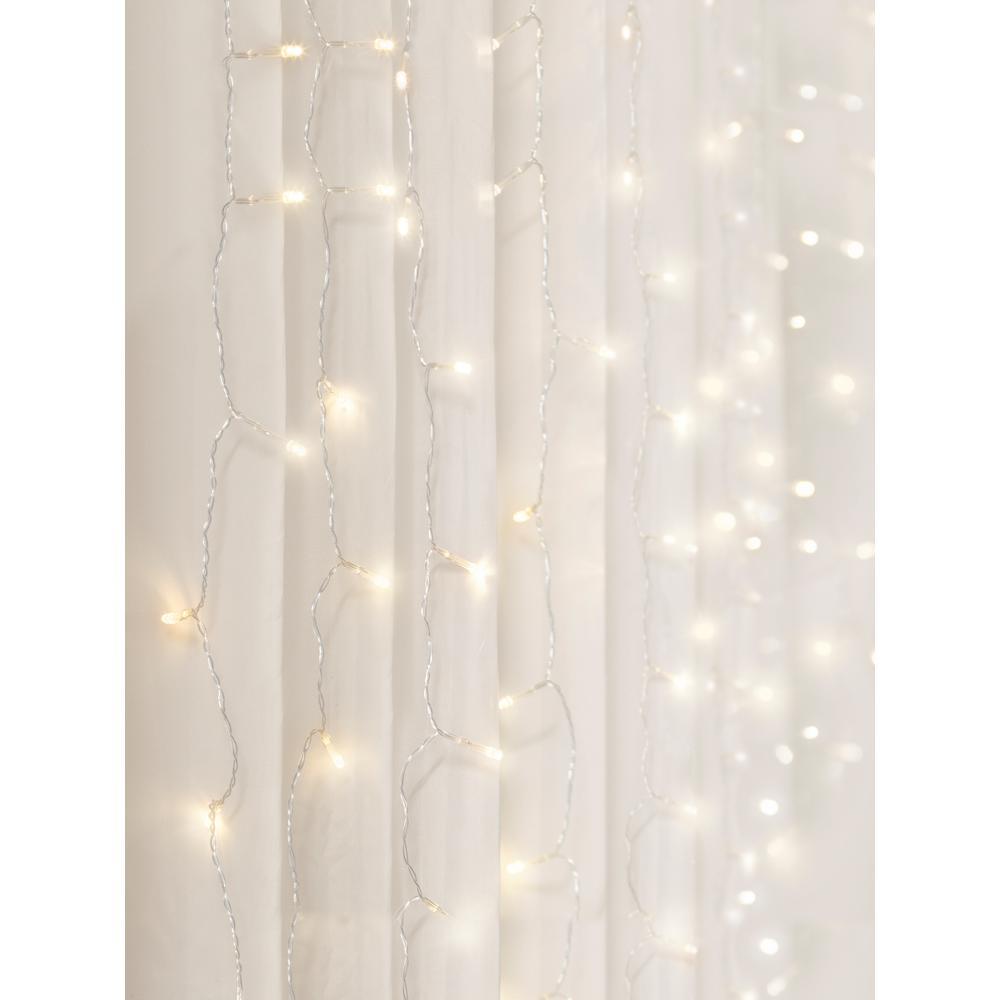 96-Light 4 ft. Warm White LED Curtain Cascading Lighting