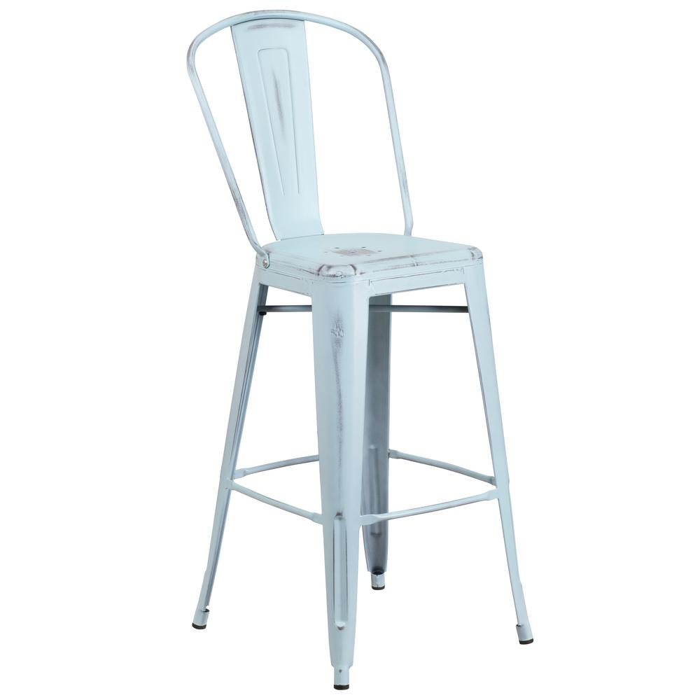 Dream blue bar stool