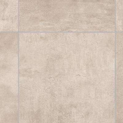 Brushed Limestone Neutral 12 ft. Wide x Your Choice Length Residential Vinyl Sheet