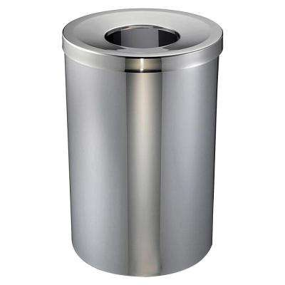 30 Gal Stainless Steel Round Open Top Trash Can