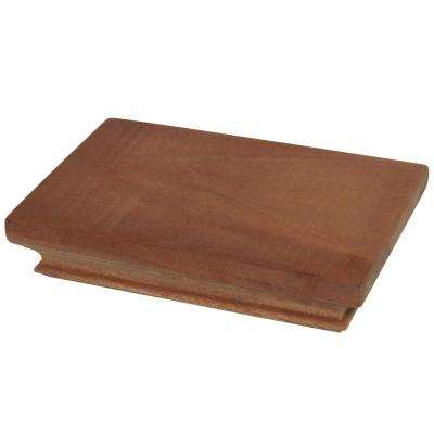 Miterless 4 in. x 6 in. Untreated Wood Flat Slip Over Fence Post Cap