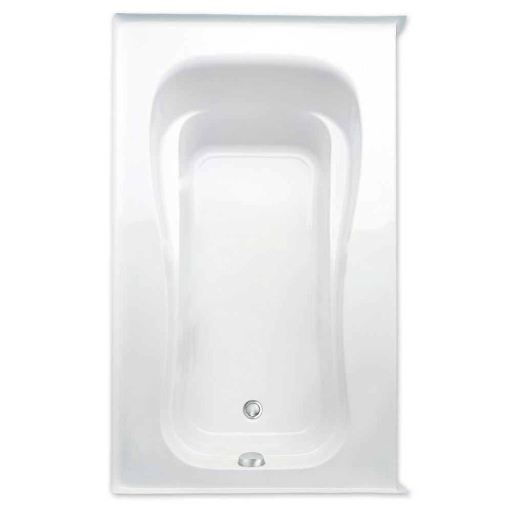 Novelli 60 in. Acrylic Left Drain Rectanglular Alcove Soaking Bathtub in