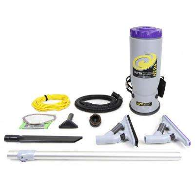 Super QuarterVac Commercial Backpack Vacuum Cleaner with Pro Blade Kit