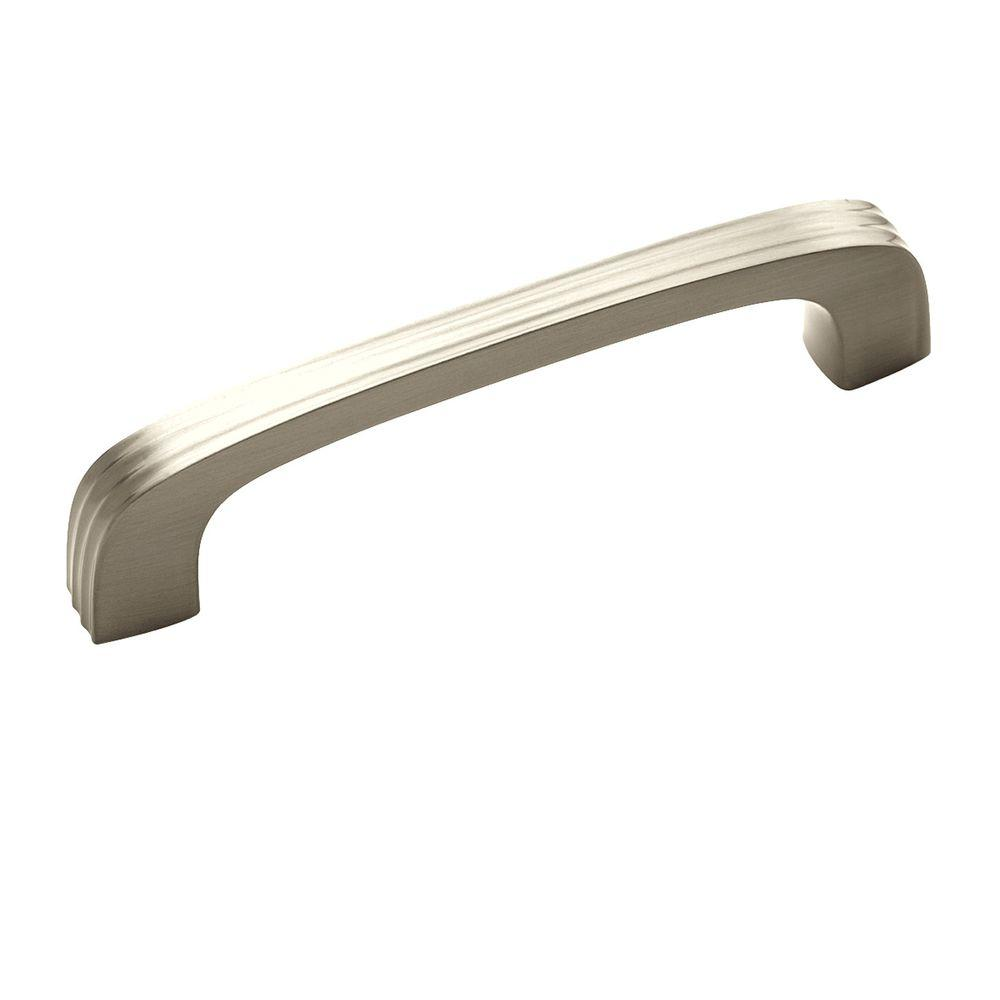 Amerock Crosley 3-3/4 in (96 mm) Center-to-Center Satin Nickel Cabinet Drawer Pull