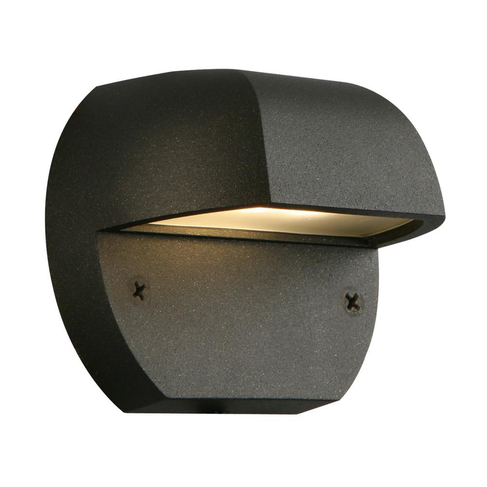 Low voltage deck lighting outdoor lighting the home depot low voltage black outdoor integrated led surface mount light workwithnaturefo