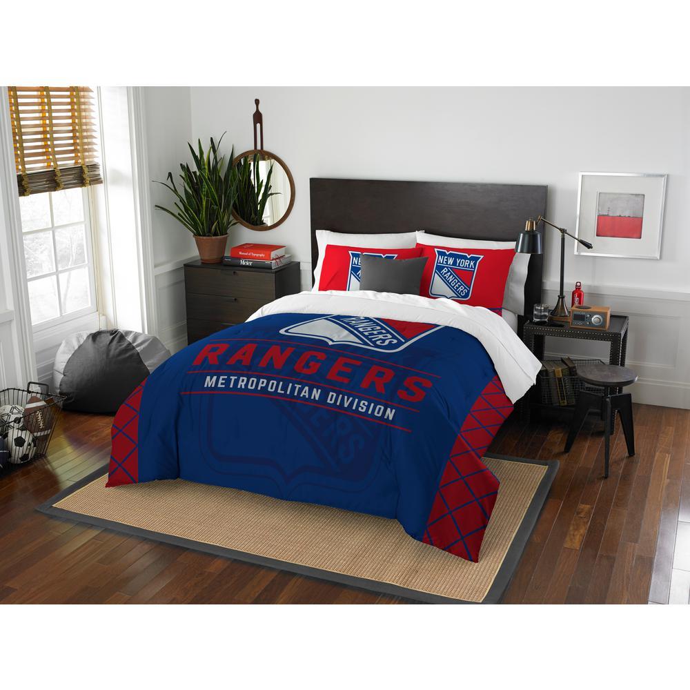 NY 3-Piece Multicolored Full Comforter Set