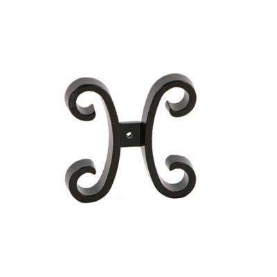 Black Aluminum Fence Butterfly Scroll