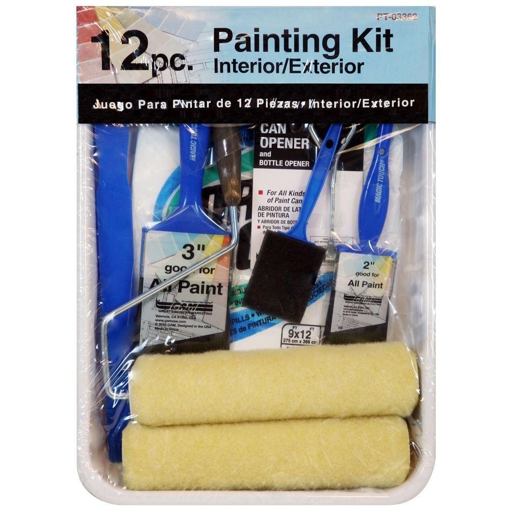 12-Piece 9 Paint Kit