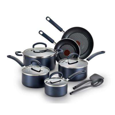 Color Luxe Sapphire Blue 12-Piece Non-stick Cookware Set