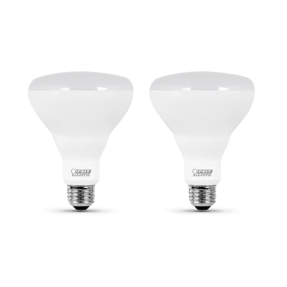 FeitElectric Feit Electric 85-Watt Equivalent BR30 Dimmable CEC Title 24 Compliant LED ENERGY STAR 90+ CRI Flood Light Bulb, Soft White (2-Pack)