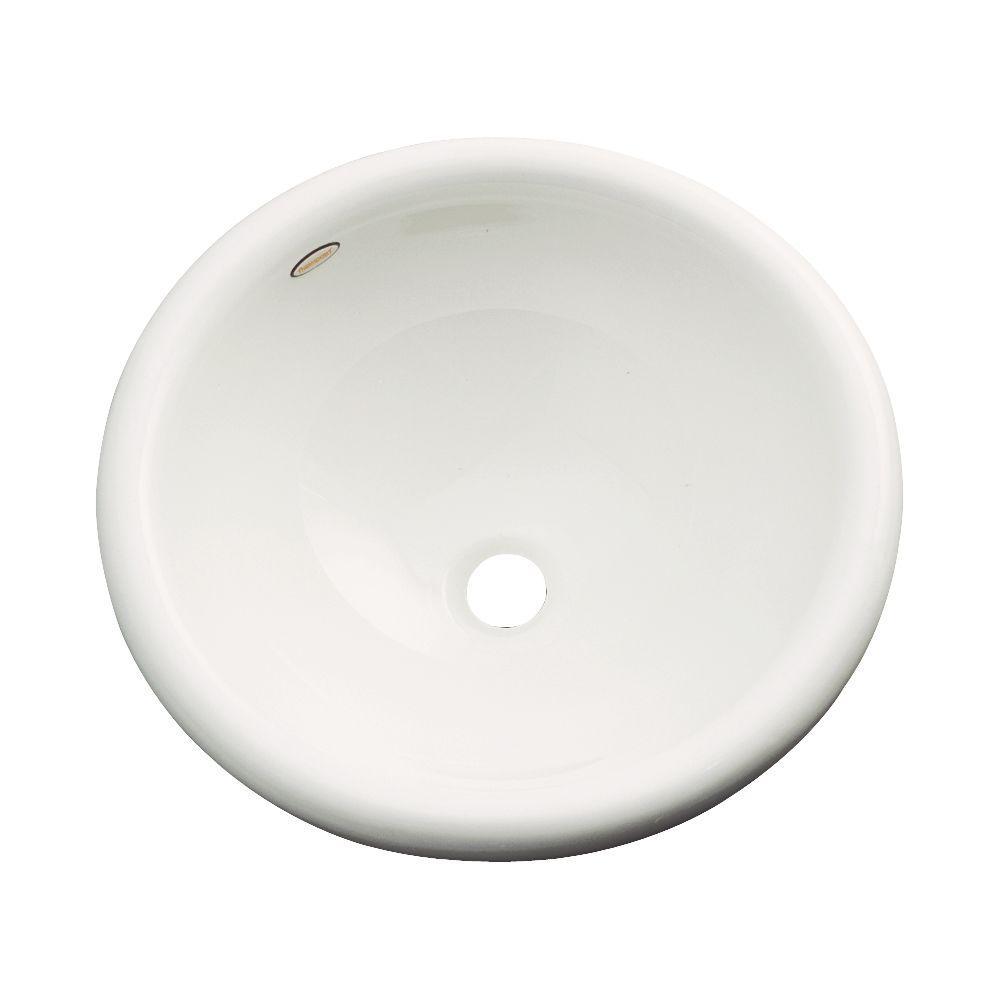 Thermocast Eudora Drop-in Bathroom Sink in Biscuit