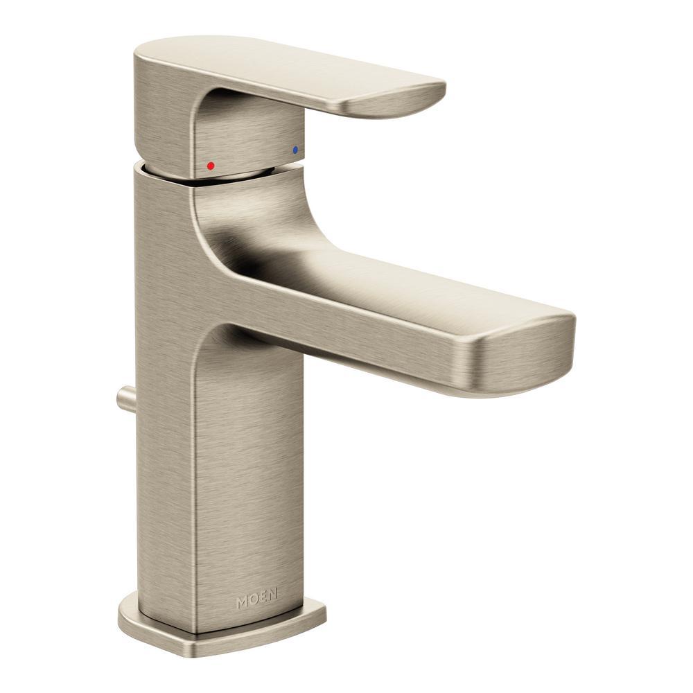 Rizon Single Hole Single-Handle Bathroom Faucet in Brushed Nickel