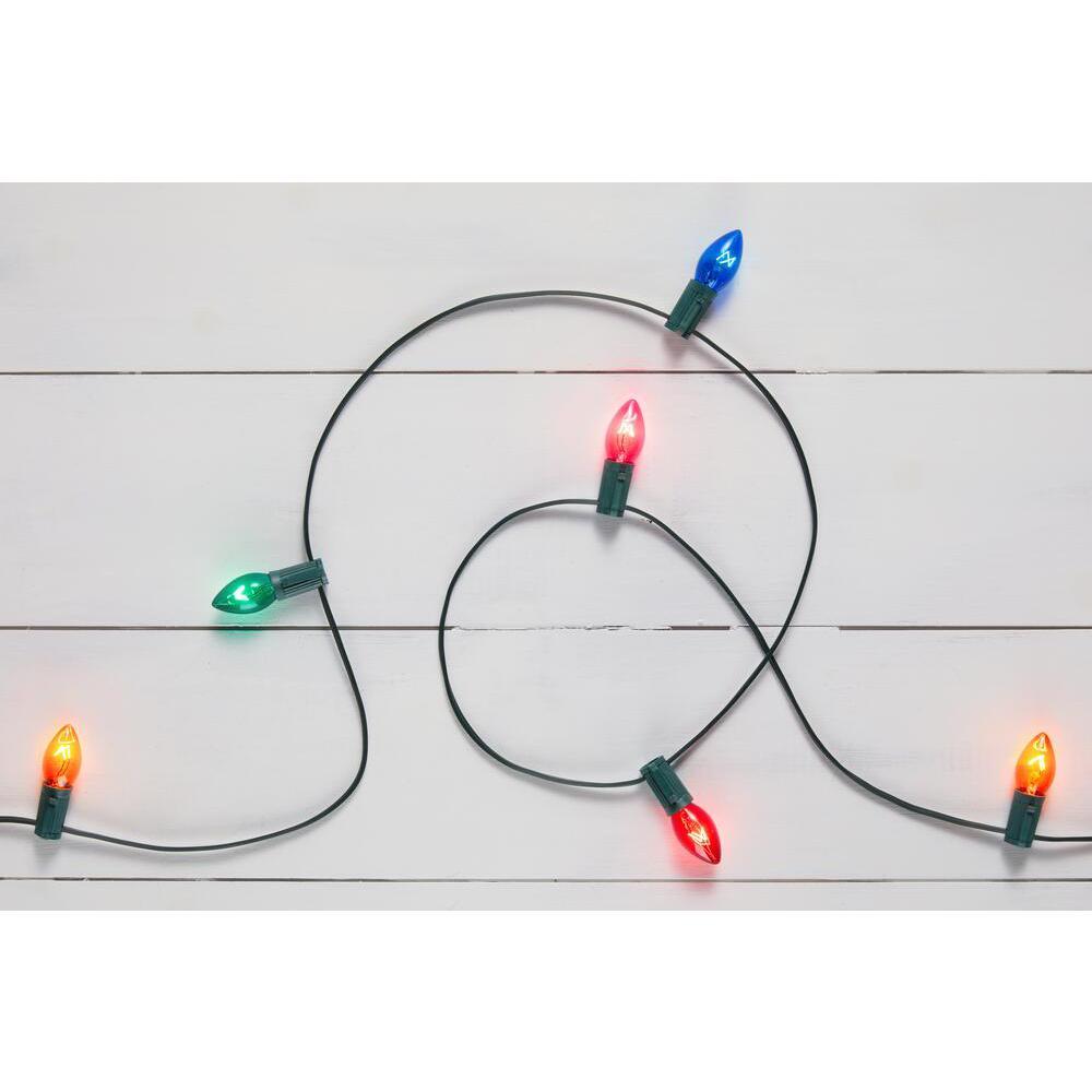 25 Multi-Colored Incandescent C7 Lights
