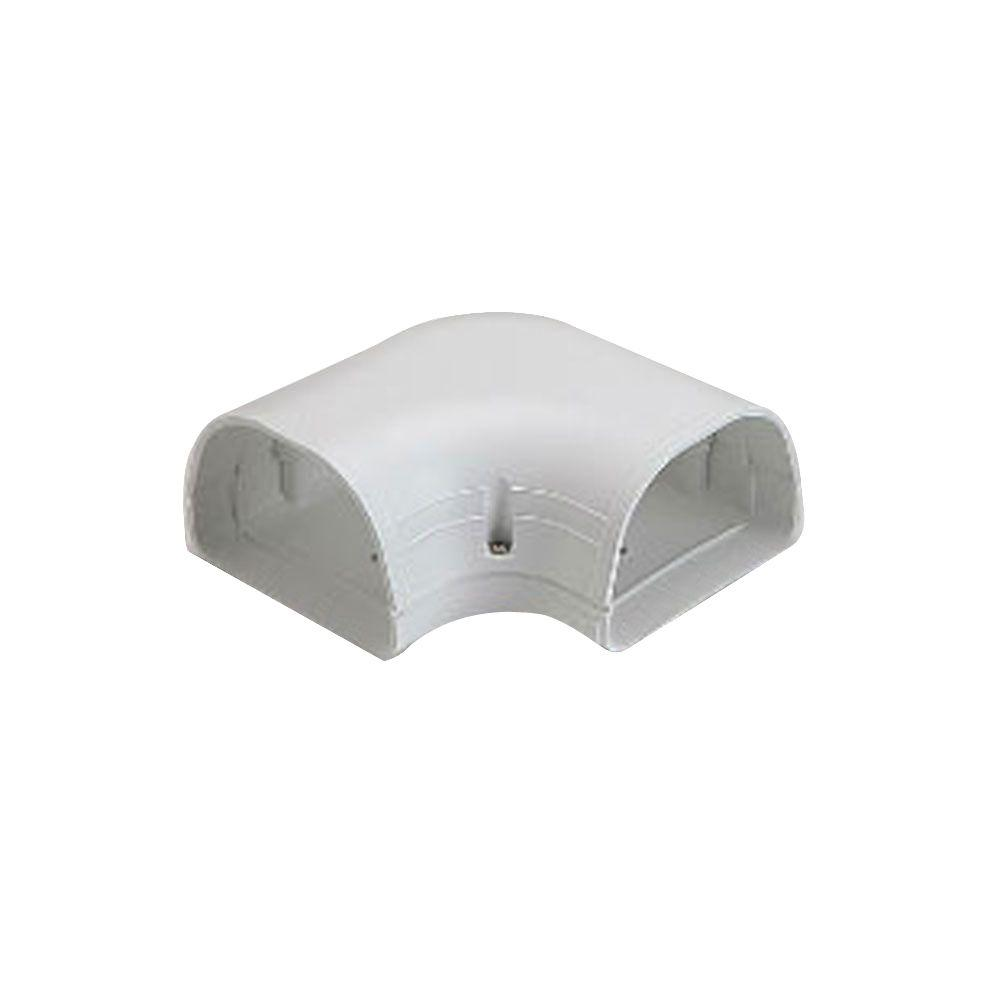Fortress LK92W 3-1/2 in. 90° Flat Elbow for Ductless Mini Split