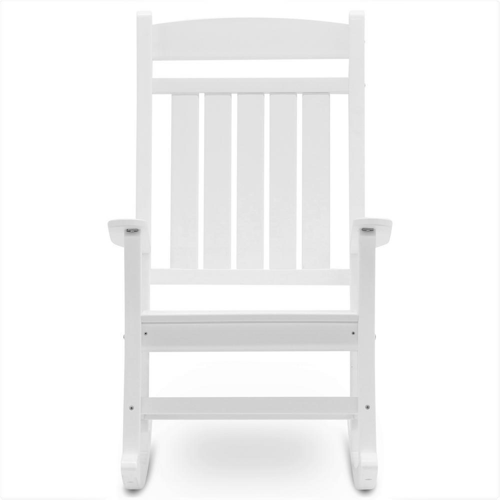 Clic Rocker White Plastic Outdoor Rocking Chair
