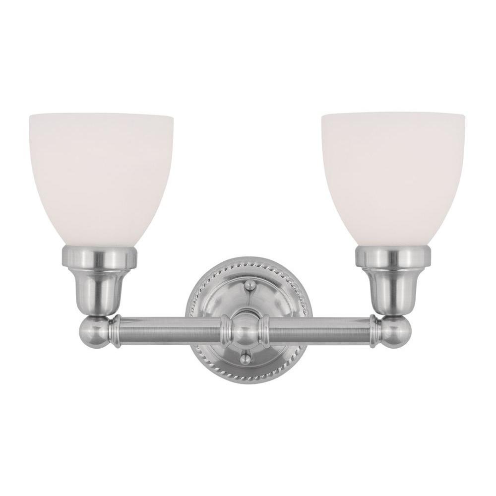 Livex Lighting 2-Light Brushed Nickel Bath Light