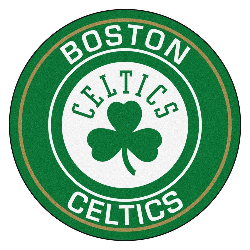 NBA Boston Celtics Green 2 ft. x 2 ft. Round Area Rug