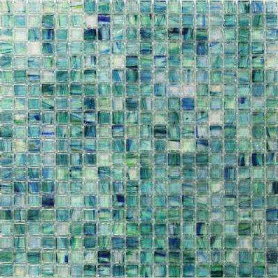 Breeze Caribbean Ocean 12-3/4 in. x 12-3/4 in. x 6 mm Glass Mosaic Tile