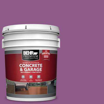 5 gal. #OSHA-4 Osha Safety Purple 1-Part Epoxy Satin Interior/Exterior Concrete and Garage Floor Paint