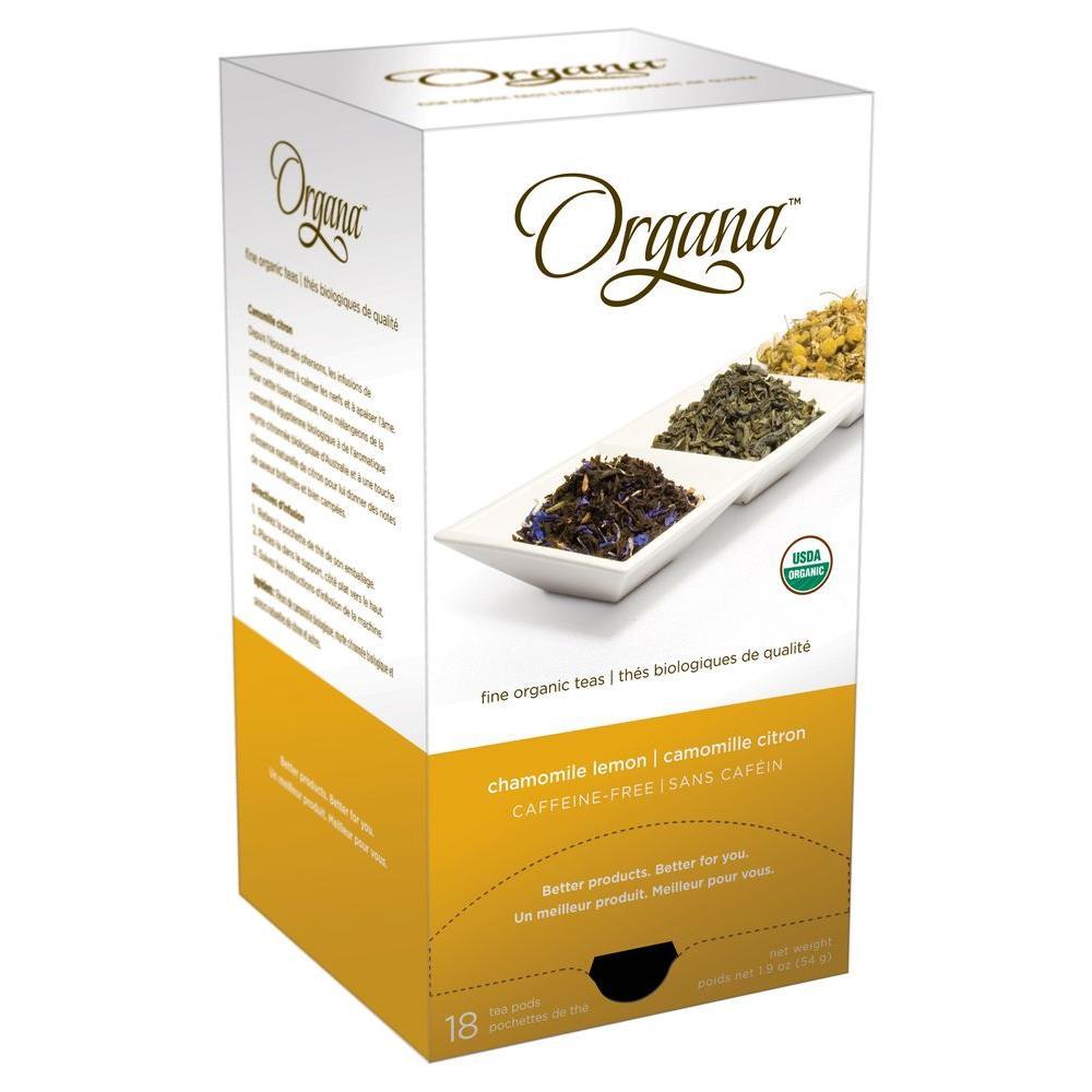 Organa Chamomile Lemon Single Cup Tea Pods, 18-count-DISCONTINUED