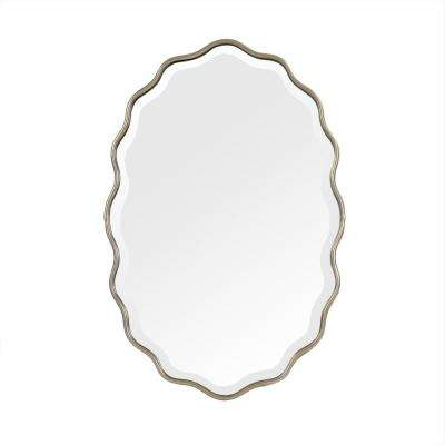 Odette Scalloped Antique Metal Gold Mirror
