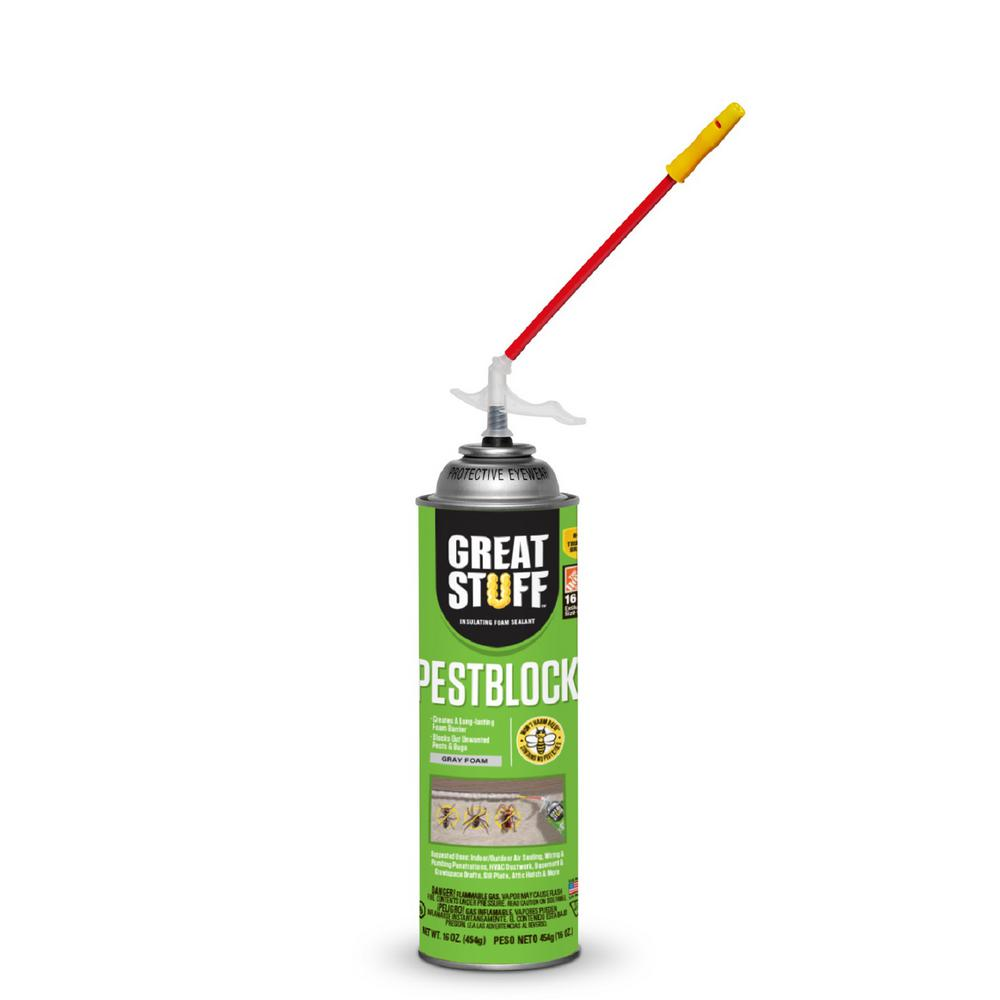 GREAT STUFF 16 oz. Pestblock Insulating Foam Sealant with Quick Stop Straw