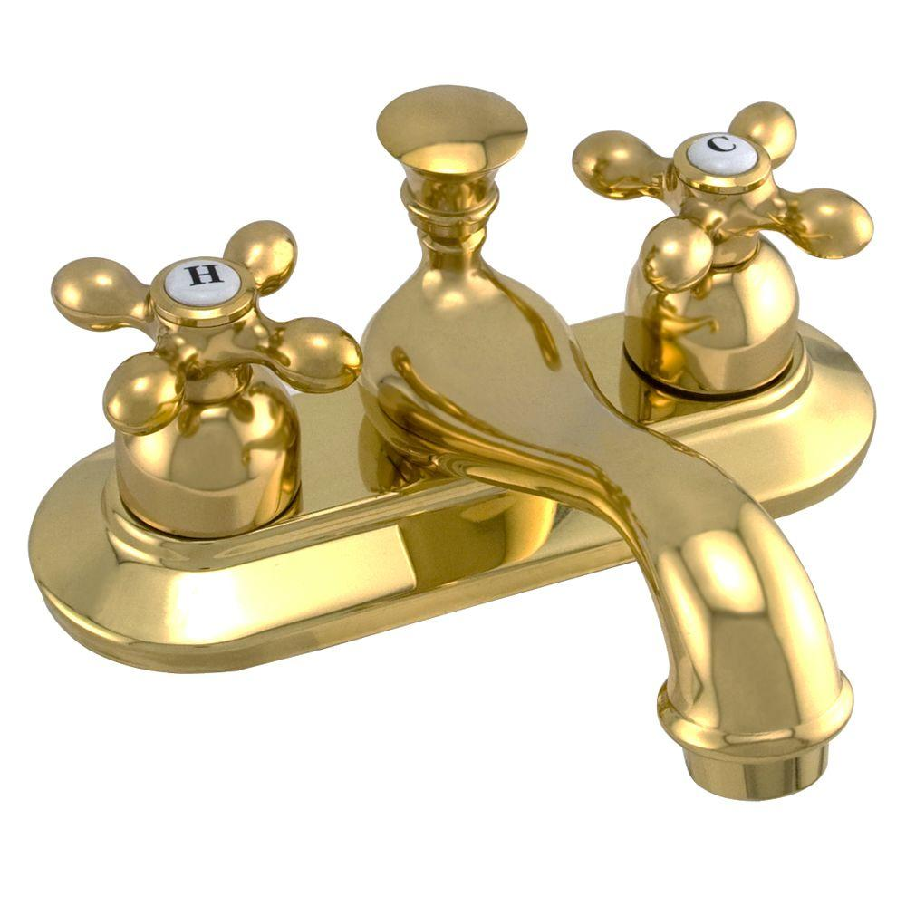 null Avon 4 in. 2-Handle Bathroom Faucet in Polished Brass-DISCONTINUED