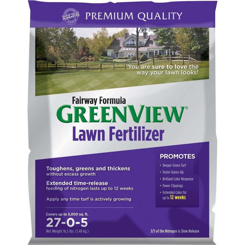 Greenview 16.5 lb. 5,000 sq. ft. 27-0-5 Zero Phosphate Fairway Formula Lawn Fertilizer
