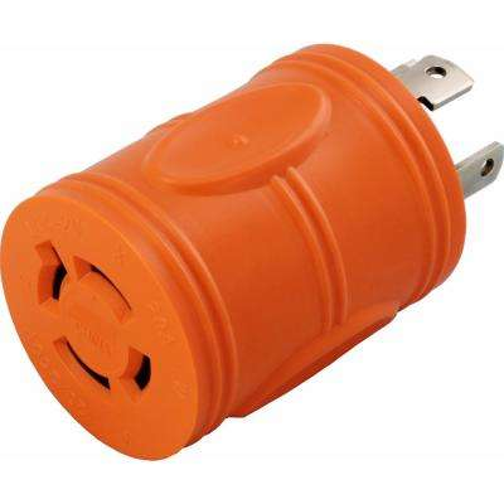 Locking Adapter NEMA L14-30P 30Amp 125/250Volt 4Prong Locking Plug to L14-20R 4Prong 20Amp Locking Female Connector