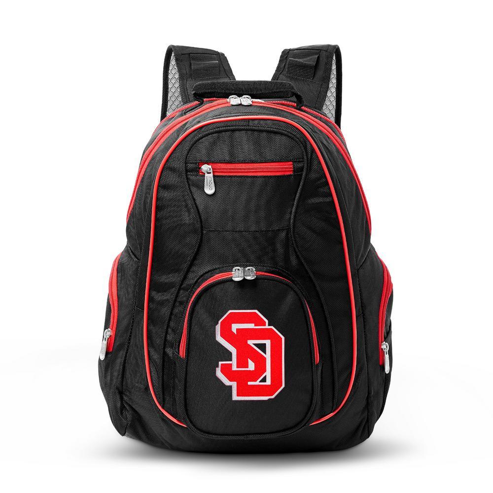 NCAA South Dakota Coyotes 19 in. Black Trim Color Laptop Backpack