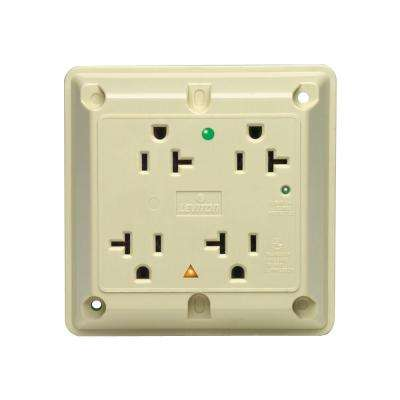 20 Amp Hospital Grade Extra Heavy Duty 4-in-1 Isolated Ground Surge Outlet with Indicator Light, Ivory