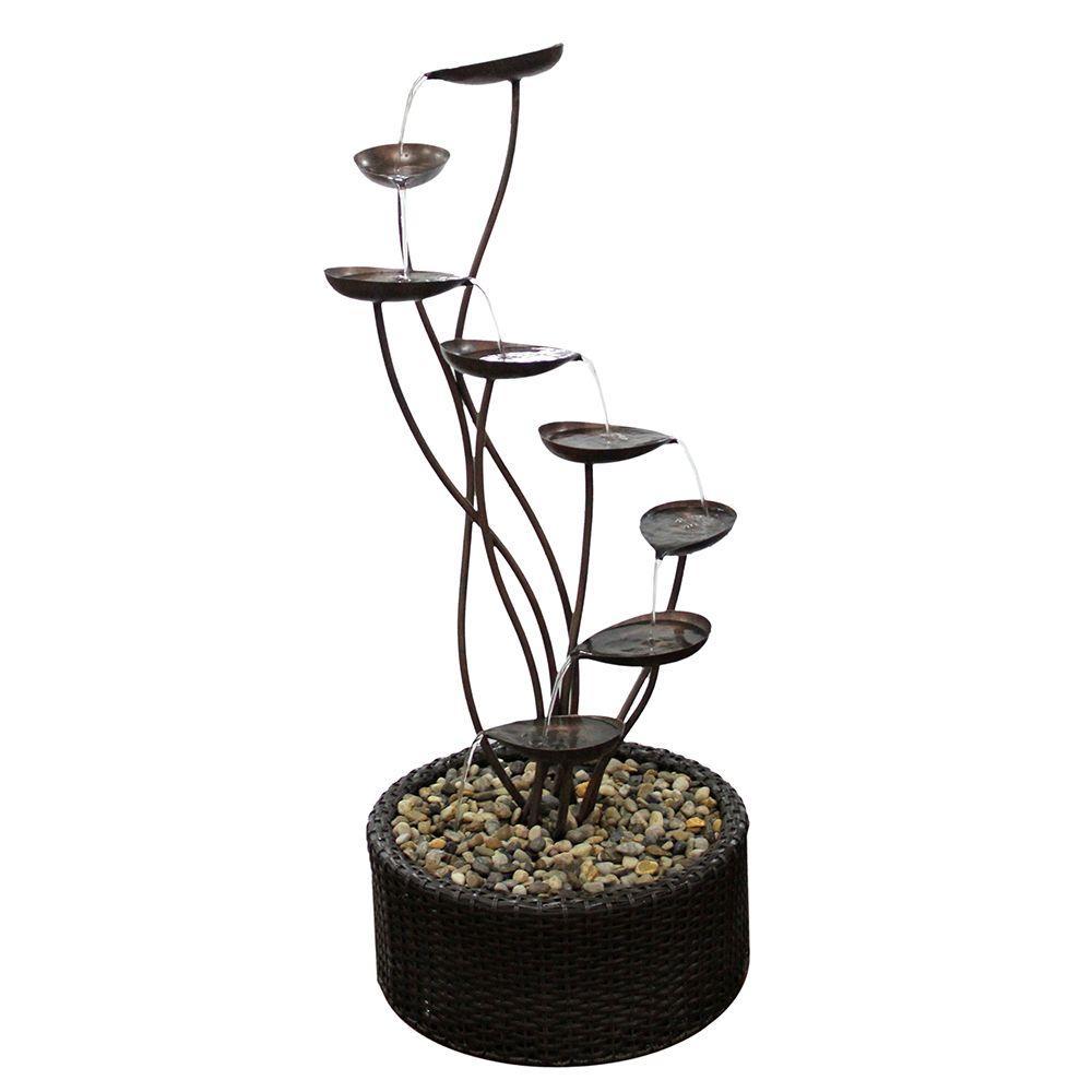45 in. Metal Tiering Leaf Fountain