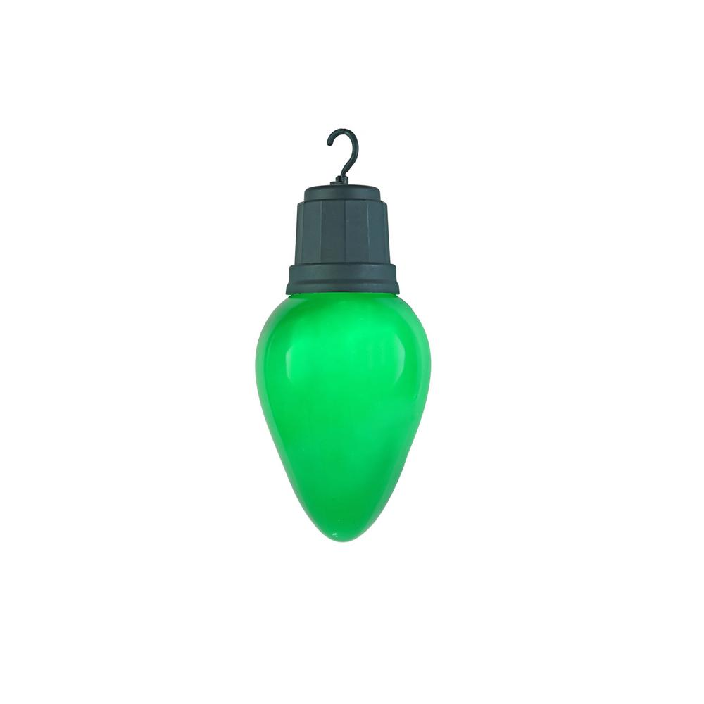 Home Accents Holiday Home Accents Holiday 13 in. 2-Light LED Green Light-Up Christmas Bulb