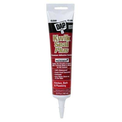 Kwik Seal Plus 5.5 oz. Kitchen and Bath Adhesive Caulk with Microban