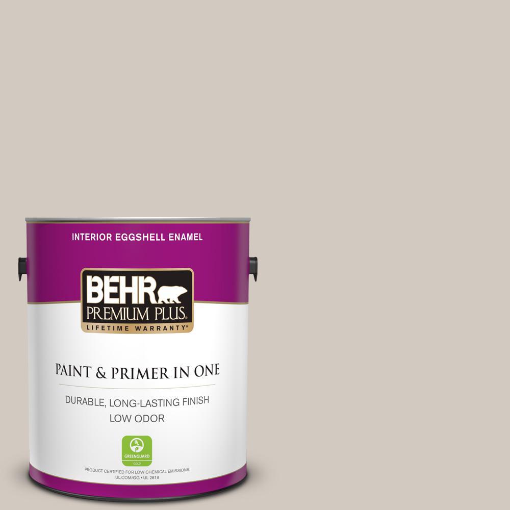 Behr Premium Plus 1 Gal N220 2 Ashen Tan Eggshell Enamel Low Odor