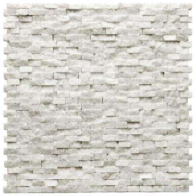Modern Beaux 12 in. x 12 in. x 9.5 mm Quartzite Natural Stone Mesh-Mounted Mosaic Wall Tile (10 sq. ft. / case)