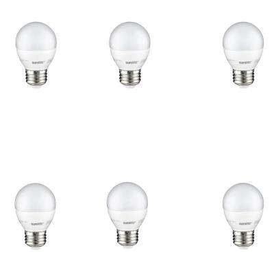 40-Watt Equivalent Frost Warm White G16 Dimmable LED Light Bulb (6-Pack)