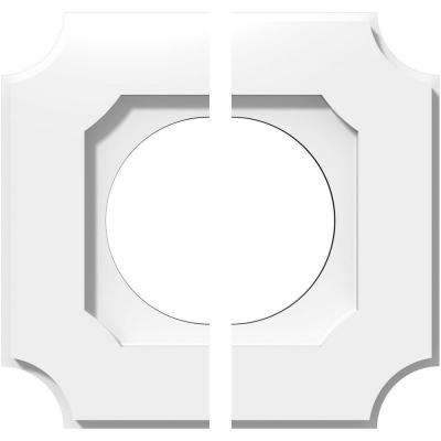 1 in. P X 6 in. C X 10 in. OD X 5 in. ID Locke Architectural Grade PVC Contemporary Ceiling Medallion, Two Piece