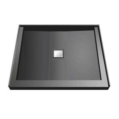 36 in. x 36 in. Triple Threshold Shower Base with Center Drain