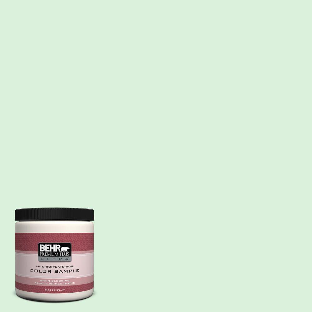 8 oz. #P390-1 Frostini Matte Interior/Exterior Paint and Primer in One