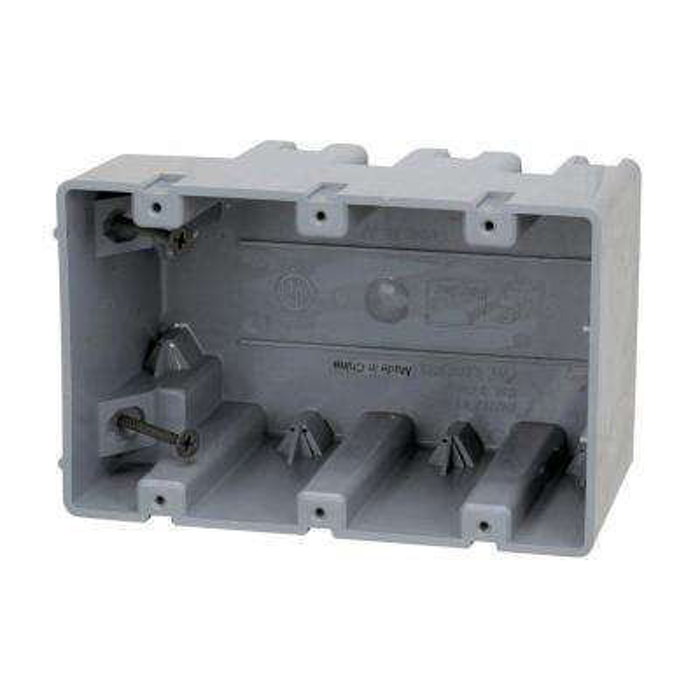 Smart Box 3-Gang Adjustable Depth Device Box