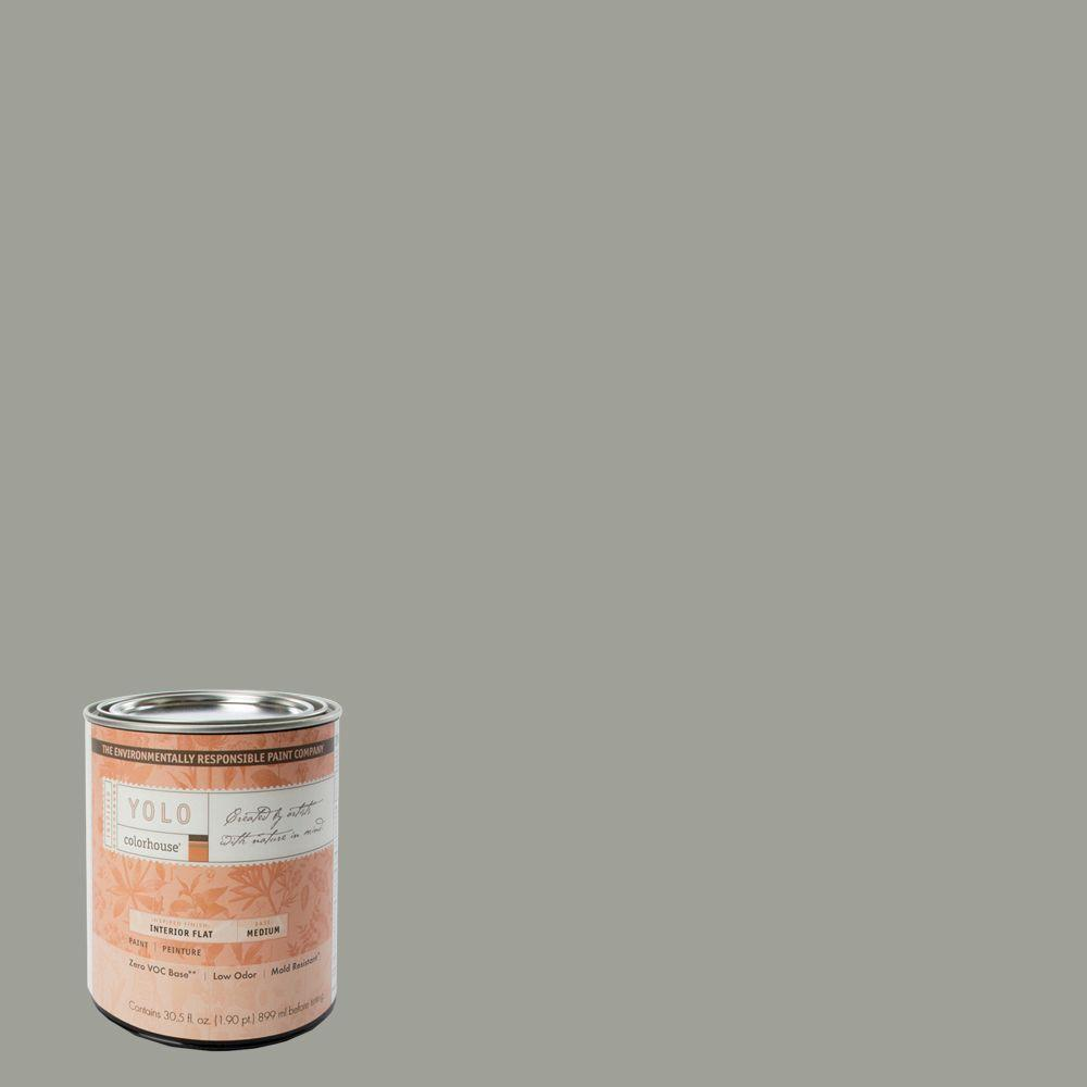YOLO Colorhouse 1-Qt. Metal .04 Flat Interior Paint-DISCONTINUED