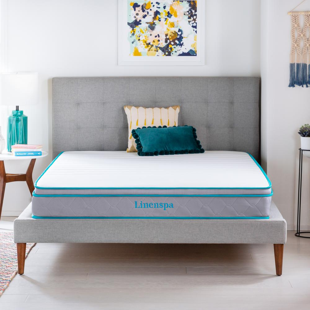 Linenspa Essentials Designed to elevate your bedroom and provide optimal comfort, this eight-inch mattress is just what youve been looking for.