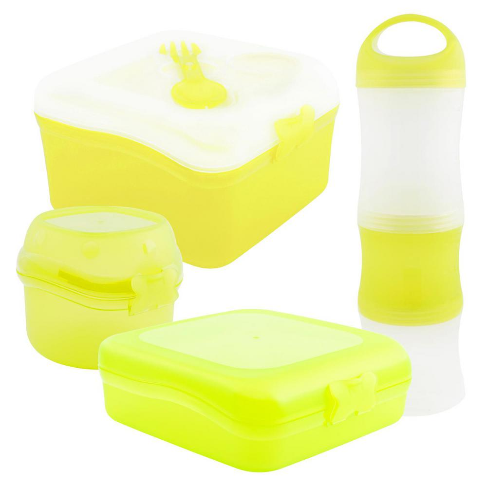 4-Piece Food Storage Container Assorted Pack in Lime