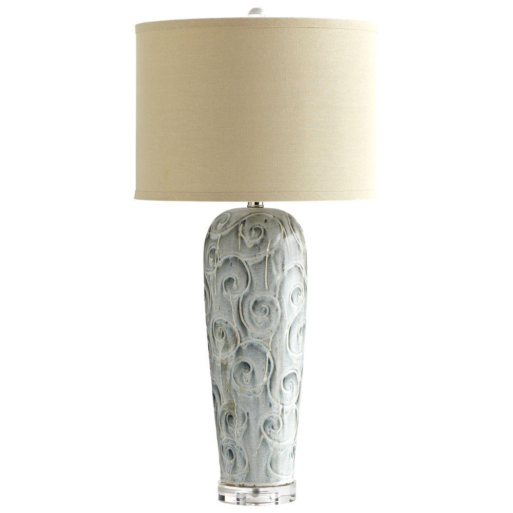 Filament Design Prospect 31 in. Olive Glaze Table Lamp