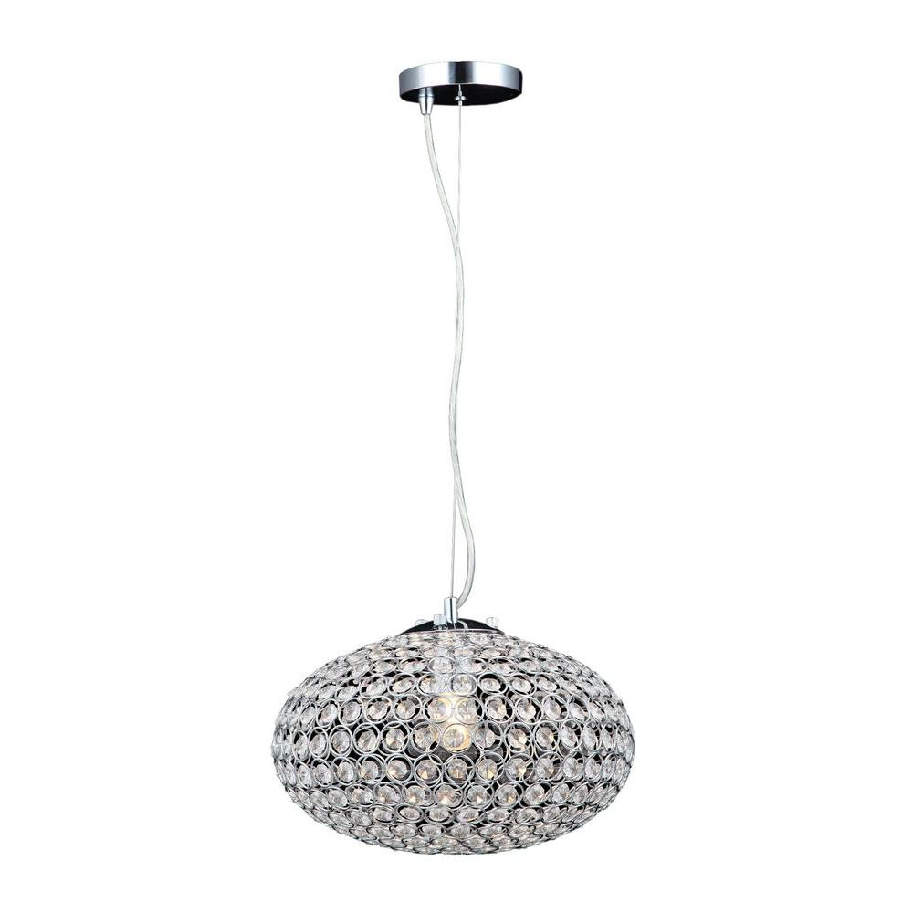 1 Light Chrome Crystal Small Chandelier