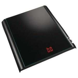 Click here to buy Taylor Digital Glass Kitchen Scale in Black by Taylor.