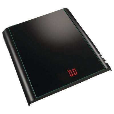 Digital Glass Kitchen Scale in Black