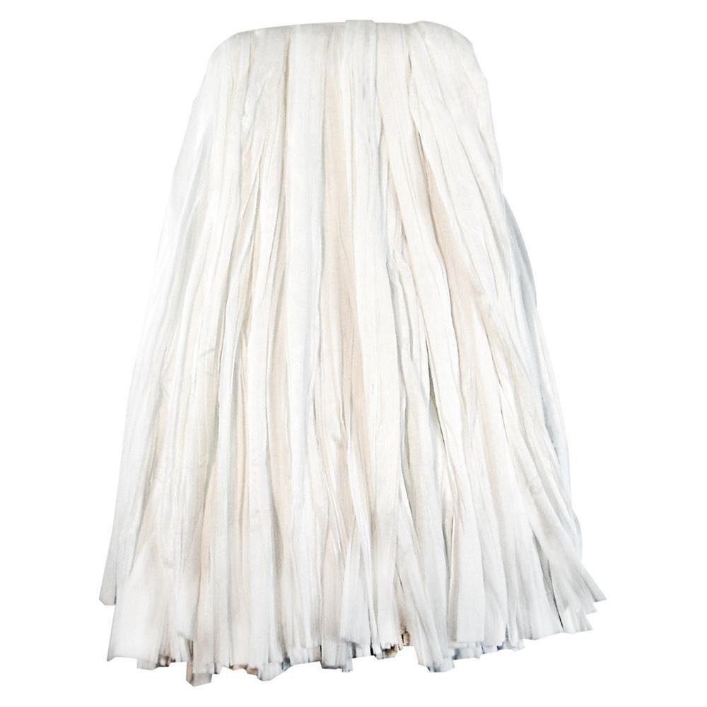 #24 Rayon/Polyester Nonwoven Cut End Edge Mop in White (12-Carton)